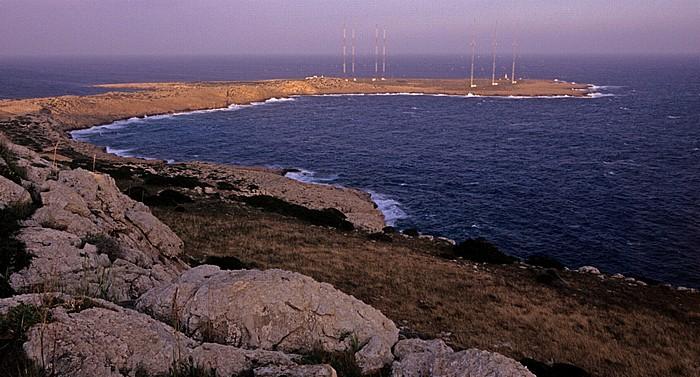 Kap Greco Küste, Mittelmeer, ehem. britische Radarstation