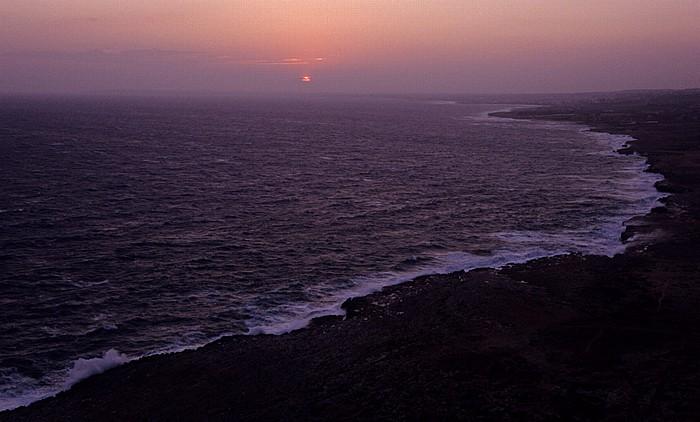 Kap Greco Sonnenuntergang über Mittelmeer