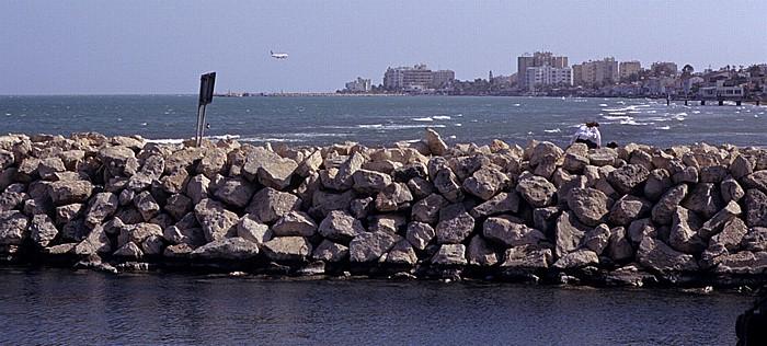 Larnaka Jachthafen, Mittelmeer, Strandpromenade