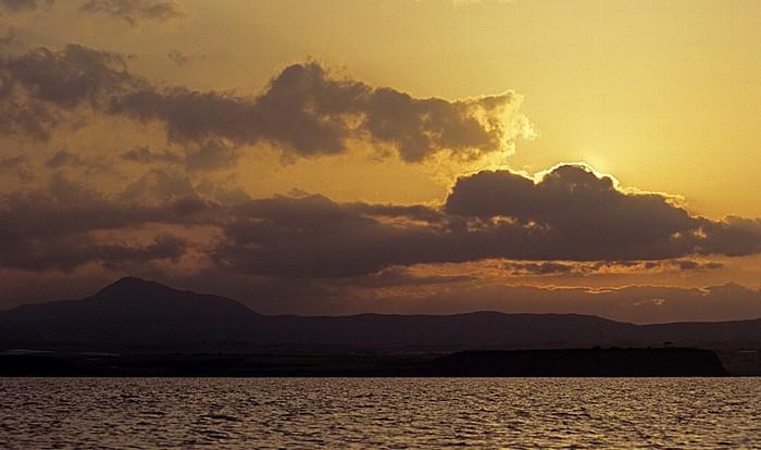 Larnaka Salzsee: Sonnenuntergang