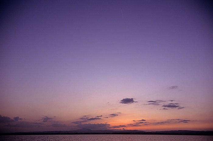 Larnaka Salzsee: Kurz nach Sonnenuntergang
