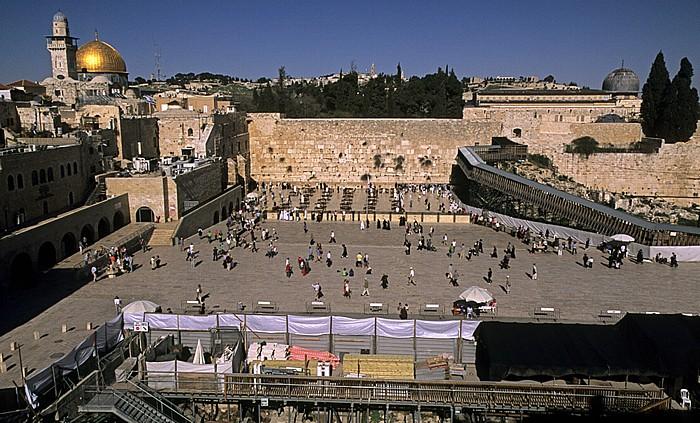 Altstadt: Klagemauer (Westmauer) und Tempelberg Jerusalem