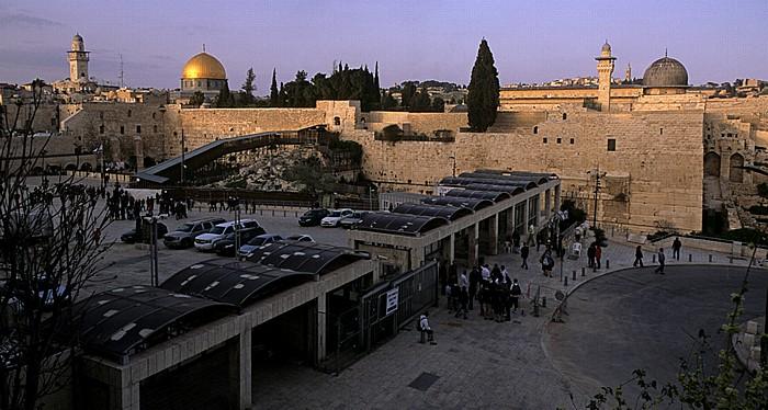 Altstadt: Western Wall Plaza, Tempelberg, Klagemauer (Westmauer) Jerusalem