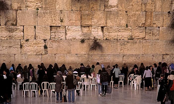 Altstadt: Klagemauer (Westmauer) am Tempelberg, Western Wall Plaza Jerusalem