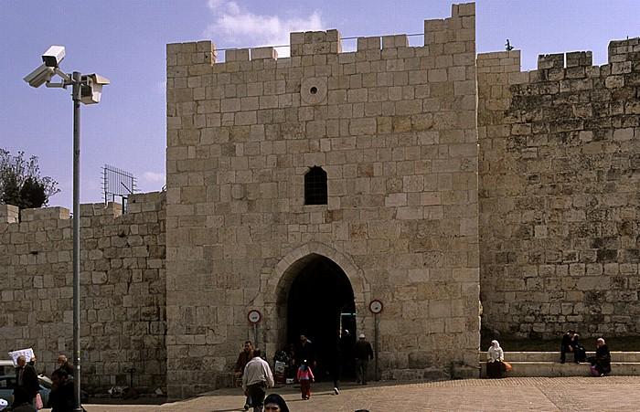 Altstadt (Christliches bzw. Muslimisches Viertel): Damaskustor (Neustadtseite) Jerusalem