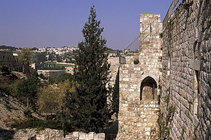 Altstadt (Jüdisches Viertel): Südmauer Jerusalem