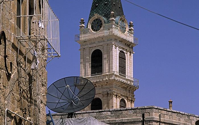 Jerusalem Altstadt (Christliches Viertel): Turm der Salvatorkirche (Kustodie des Heiligen Landes)