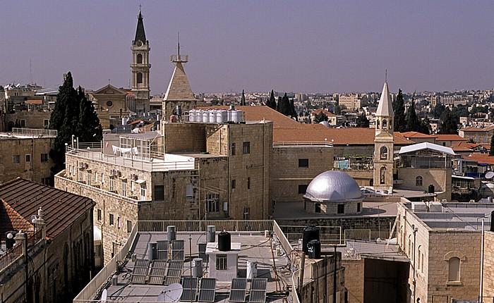 Altstadt (Armenisches Viertel): Blick von der Davidszitadelle auf das Christliche Viertel Jerusalem