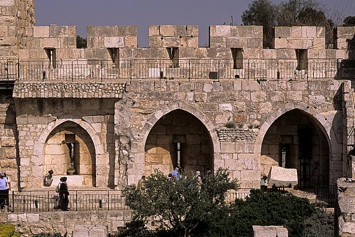 Altstadt (Armenisches Viertel): Davidszitadelle - Wehrmauer Jerusalem
