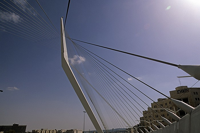 Jerusalem Chords Bridge (Calatrava-Brücke - die weiße Harfe) Jerusalem