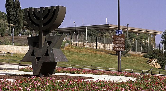 Givat Ram: Menora/Daividstern, Knesset Jerusalem