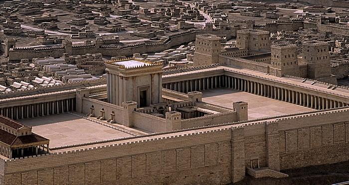 Givat Ram: Israel-Museum - Modell des Zweiten Tempels Jerusalem
