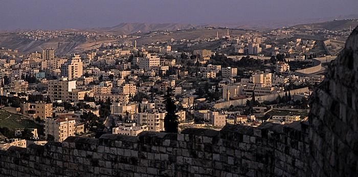 Blick vom Ölberg: Abu Dis (Westjordanland) Jerusalem