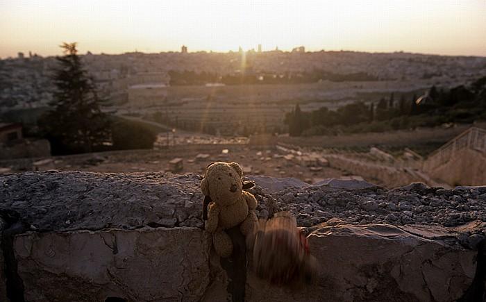 Jerusalem Ölberg: Teddy und Teddine Altstadt Jüdischer Friedhof Tempelberg