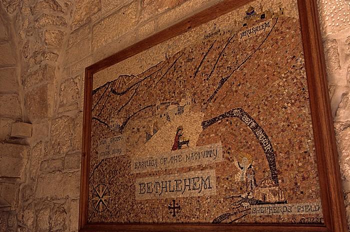 Geburtskirche: Karte von Bethlehem