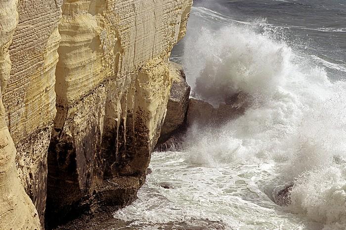 Rosh HaNikra Kalksteinfelsen, Mittelmeer