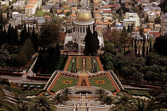 Haifa Berg Karmel: Gärten der Bahai mit dem Schrein des Bab