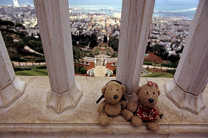 Haifa Berg Karmel: Gärten der Bahai - Teddy und Teddine Hafen Schrein des Bab