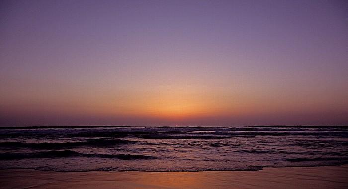 Tel Aviv Strand, Mittelmeer - Sonnenuntergang