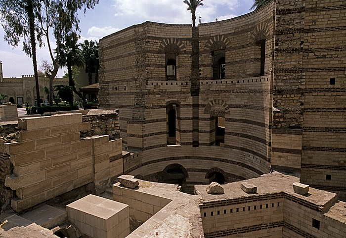 Alt-Kairo: Koptisches Viertel - Festung Babylon (Römischer Turm)