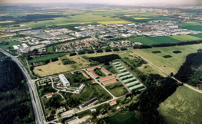 Garching Luftbild aus Zeppelin: Hochbrück Ingolstädter Landstraße