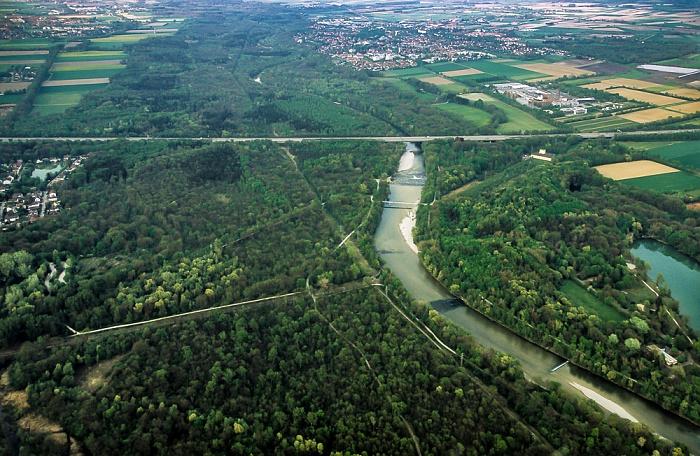 Luftbild aus Zeppelin: Isar und Isarauen München 2011