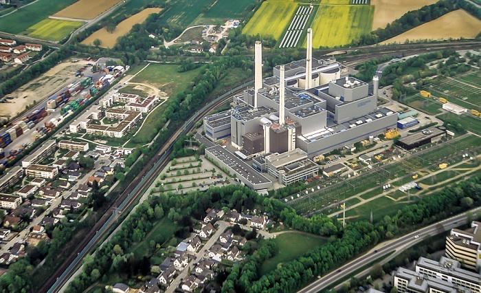 Luftbild aus Zeppelin: Heizkraftwerk München-Nord München 2011