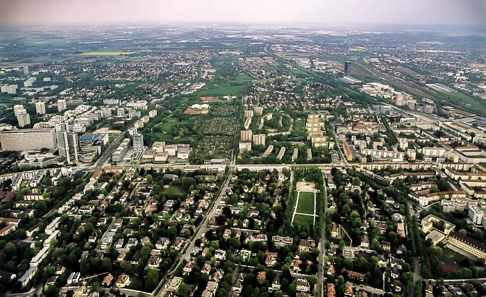 Luftbild aus Zeppelin: Bogenhausen München 2011