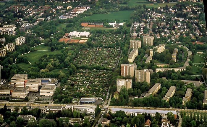 Luftbild aus Zeppelin: Bogenhausen - Denninger Anger München