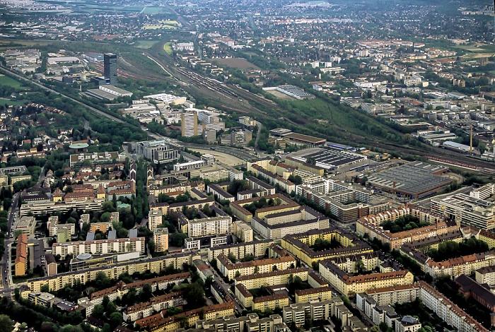 Luftbild aus Zeppelin: Bogenhausen (Steinhausen) München 2011