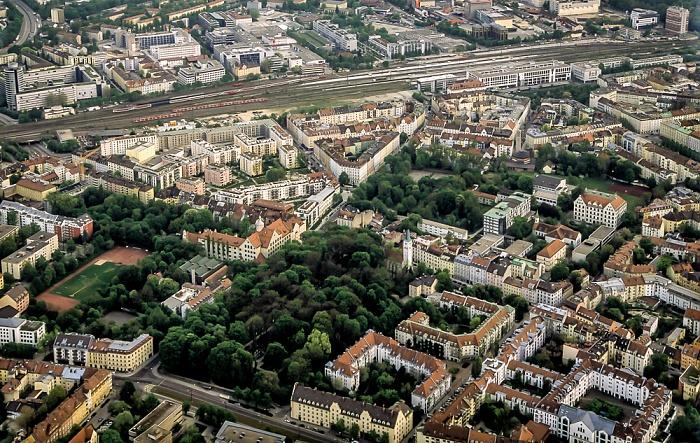Luftbild aus Zeppelin: Haidhausen München 2011