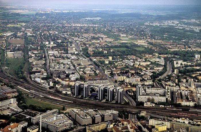Luftbild aus Zeppelin: Berg am Laim München
