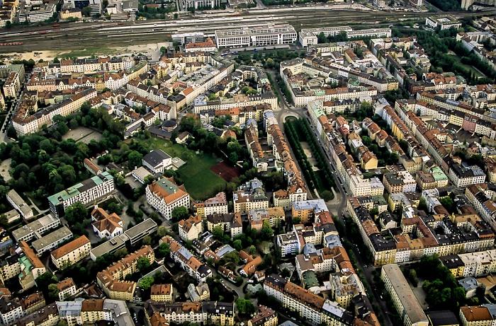 Luftbild aus Zeppelin: Haidhausen (Franzosenviertel) München 2011