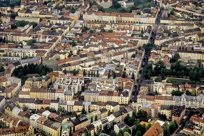 Luftbild aus Zeppelin: Haidhausen (Franzosenviertel) München