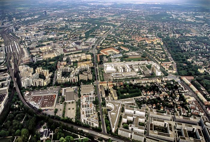 Luftbild aus Zeppelin: Ostbahnhof, Berg am Laim, Giesing München