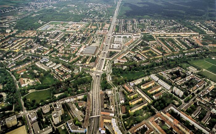 Luftbild aus Zeppelin: Giesing München