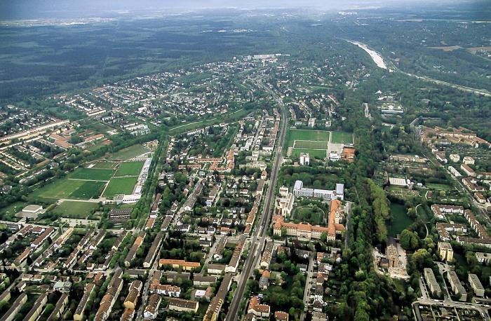 Luftbild aus Zeppelin: Untergiesing-Harlaching - Grünwalder Straße München