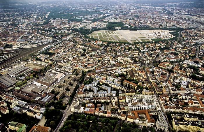 Luftbild aus Zeppelin: Sendling, Ludwigsvorstadt-Isarvorstadt München