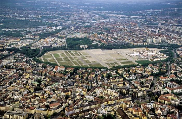 Luftbild aus Zeppelin: Ludwigsvorstadt-Isarvorstadt - Theresienwiese München 2011
