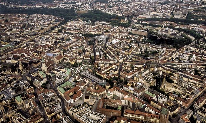 Luftbild aus Zeppelin: Altstadt, Ludwigsvorstadt-Isarvorstadt München