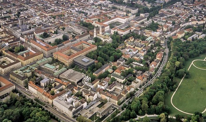 Luftbild aus Zeppelin: Maxvorstadt München 2011