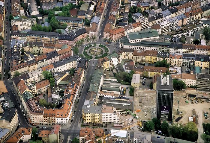 Luftbild aus Zeppelin: Ludwigsvorstadt-Isarvorstadt - Gärtnerplatzviertel München 2011