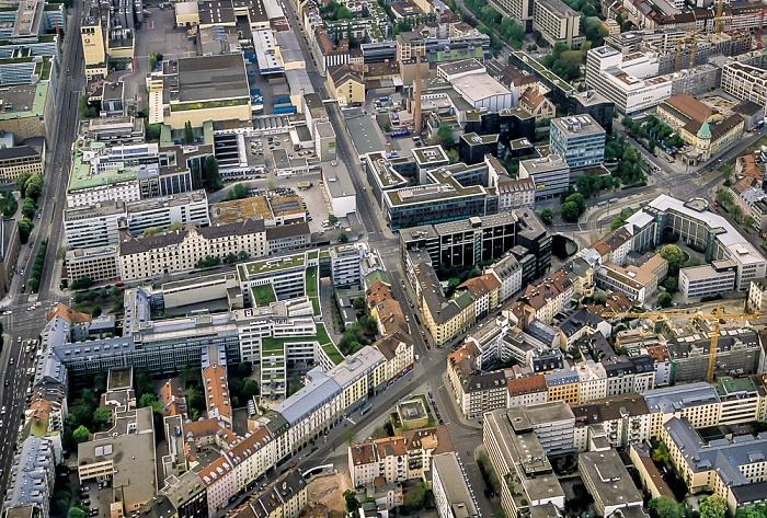 München Luftbild aus Zeppelin: Maxvorstadt