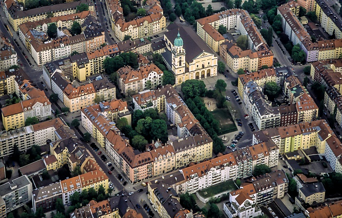München Luftbild aus Zeppelin: Maxvorstadt - St. Joseph (Josephskirche)