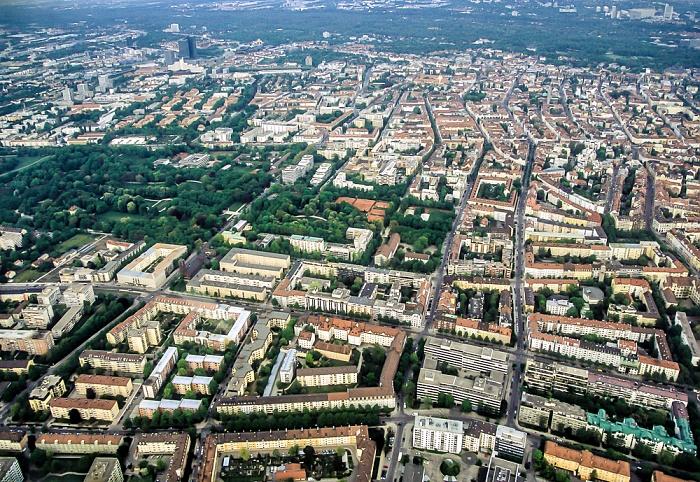 Luftbild aus Zeppelin: Schwabing - Luitpoldpark München