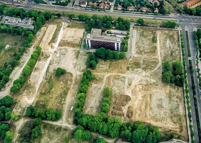 Luftbild aus Zeppelin: Schwabing München