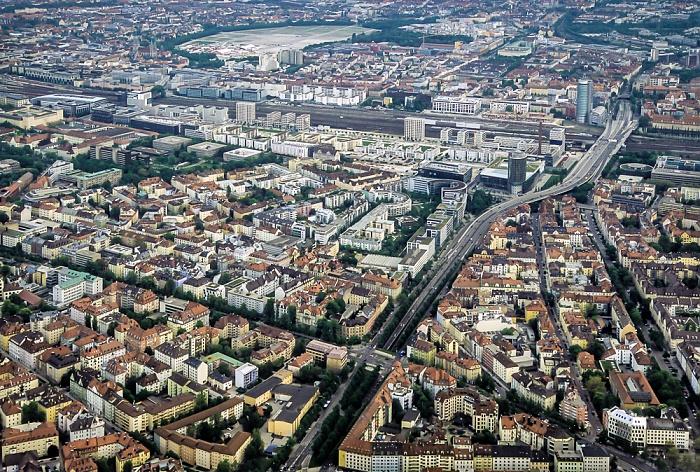 Luftbild aus Zeppelin: Neuhausen-Nymphenburg München 2011