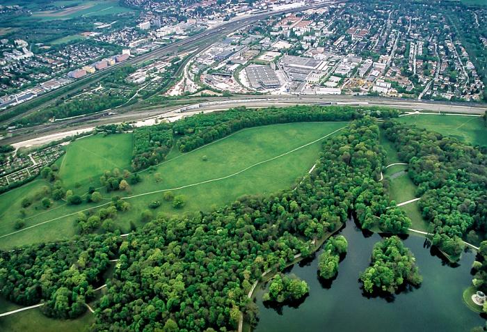 Luftbild aus Zeppelin: Pasing, Schlosspark Nymphenburg München 2011