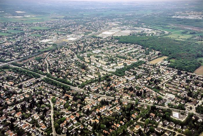 Luftbild aus Zeppelin: Pasing-Obermenzing und Allach-Untermenzing München