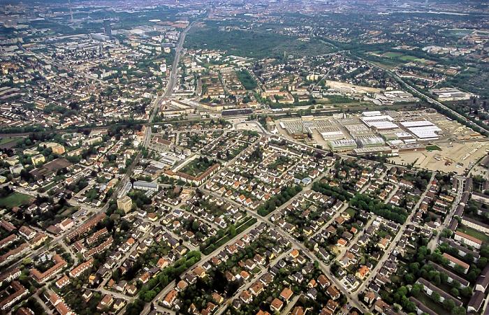 München Luftbild aus Zeppelin: Moosach Olympiapark